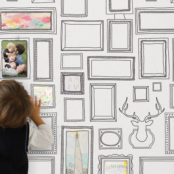 Nicola Frames 4 L X 24 W Paintable Peel And Stick Wallpaper Roll Peel And Stick Wallpaper Wallpaper Roll Photo Frame Wallpaper