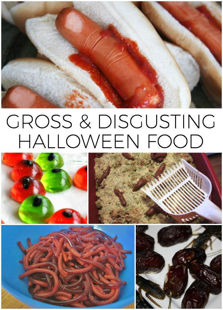 Gross Halloween Food is the perfect thing to serve at your halloween party and your guests will be talking for days!