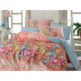 Hobby Home Bianca somon - Lenjerie de pat din bumbac ranforce 2 persoane