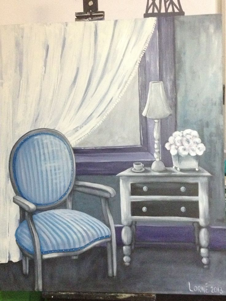 White room. Oil on canvas