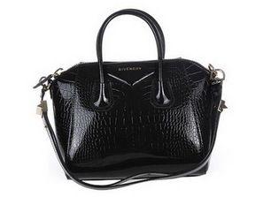 Givenchy Antigona Sac Croco Cuir Noir 9981 - €307.98 : sac a main pas cher, sac de marque   Givenchy bag