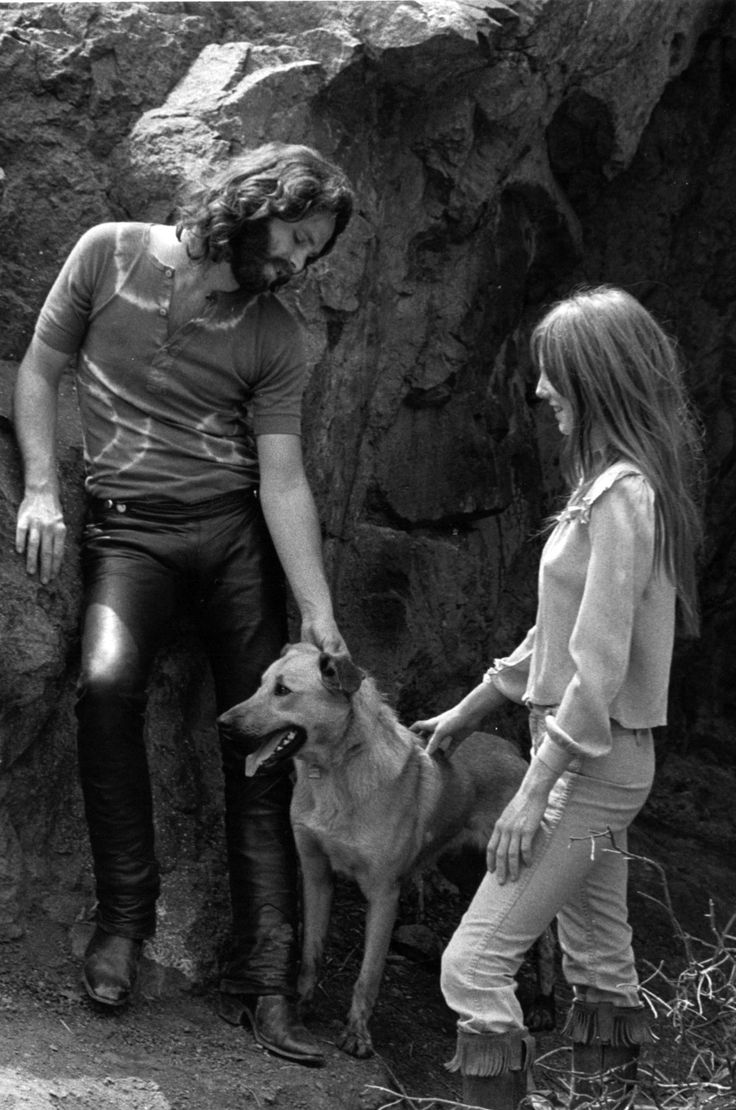 Jim Morrison and girlfriend Pamela Courson in Hollywood's Bronson Canyon