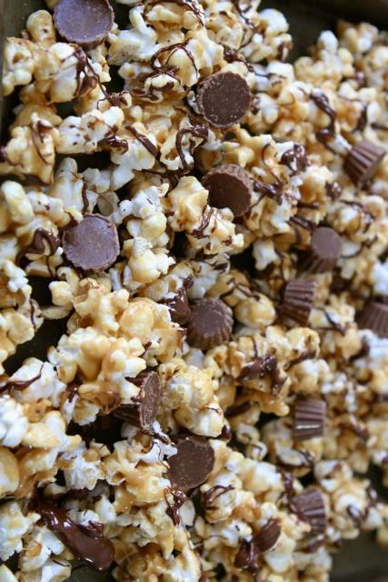 This sweet popcorn snack is perfect for movie night or game day.