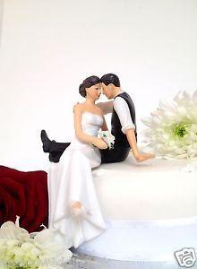 Romantic Wedding Cake Toppers | ... of Love' Romantic Elegant Bride & Groom Wedding Cake Topper/New 2013