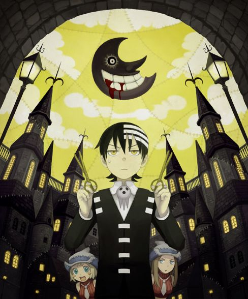 Soul Eater!! Death the kid!! ;) Symmetry!! --NO, THE MOON! ITS GARBAGE! ABSOLUTE GARBAGE!!