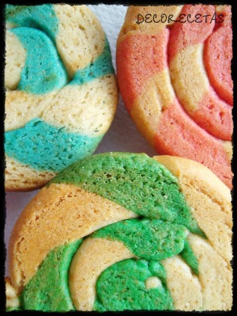pan dulce de colores