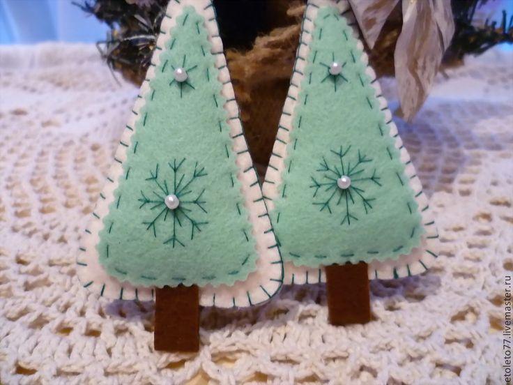 Купить ёлочки 2 штуки - новый год 2014, новогодний сувенир, новогодние игрушки, новогодний декор