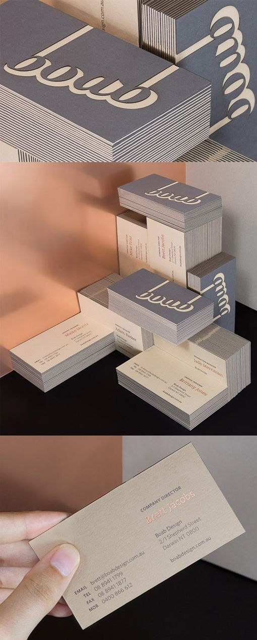 Amazing Layered Laser Cut And Hot Foil Stamped Business Card Design