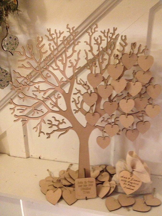 wishing tree large wooden guest book by craft heaven | notonthehighstreet.com