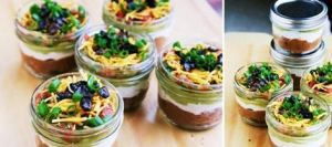 Individual Mexican 7 Layer Dip.