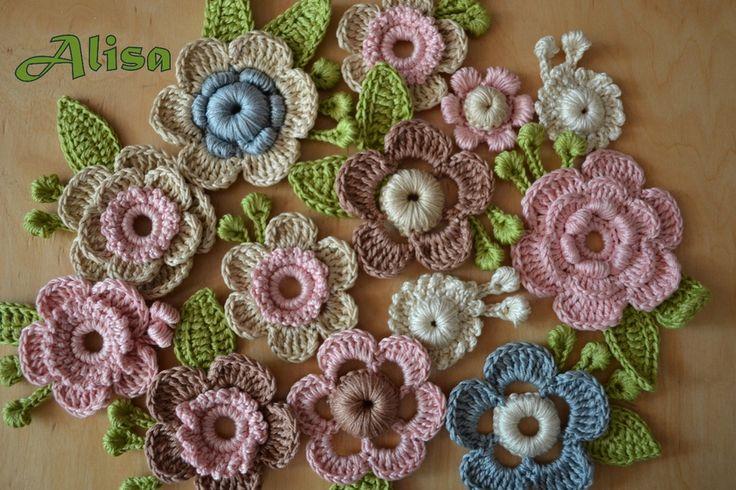 Irish crochet flower motif