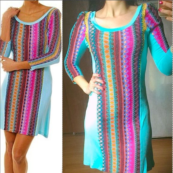Spotted while shopping on Poshmark:  BOHO Spring Knit Stitched Button Back Dress! #poshmark #fashion #shopping #style #ValMarie Boutique #Dresses & Skirts