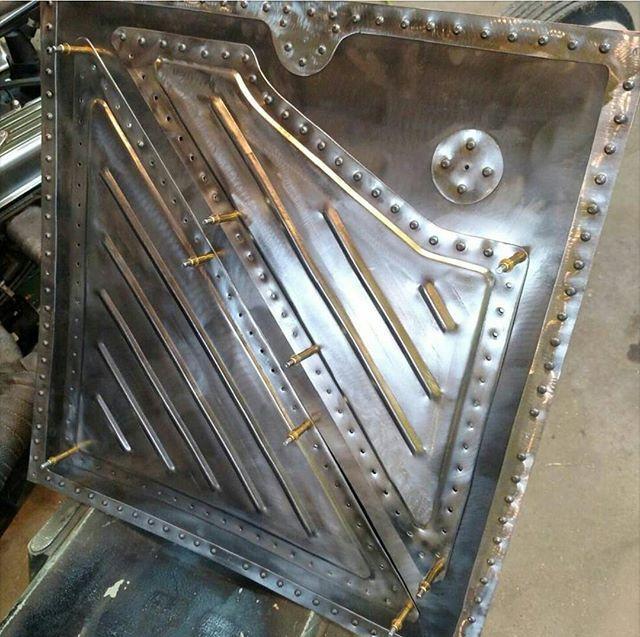 Custom door panel, by @slackers_of_ohio. #RatRodRiot # ...
