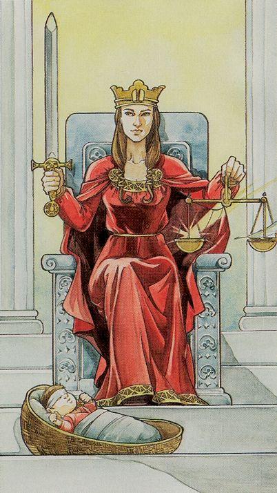 Justice - Lo Scarabeo Tarot