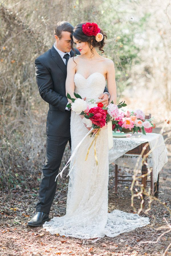 Romantic Bridal Inspiration: Massive, Daring Blooms + Gowns By Watters | Wedding Ideas