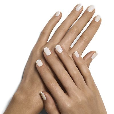 marshmallow french manicure By Essie - a cloudy sheer white french manicure is confection perfection.