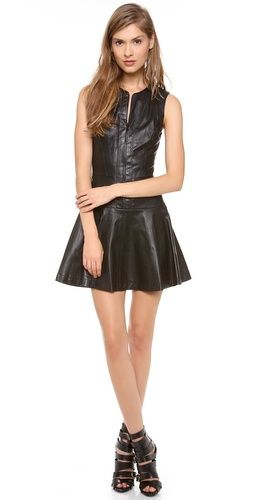 Robert Rodriguez Stretch Leather Dress | SHOPBOP