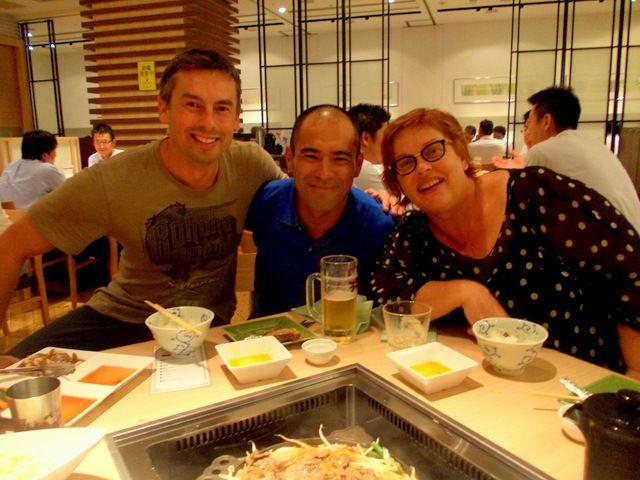 Sukiyaki dinner in Sapporo 2013