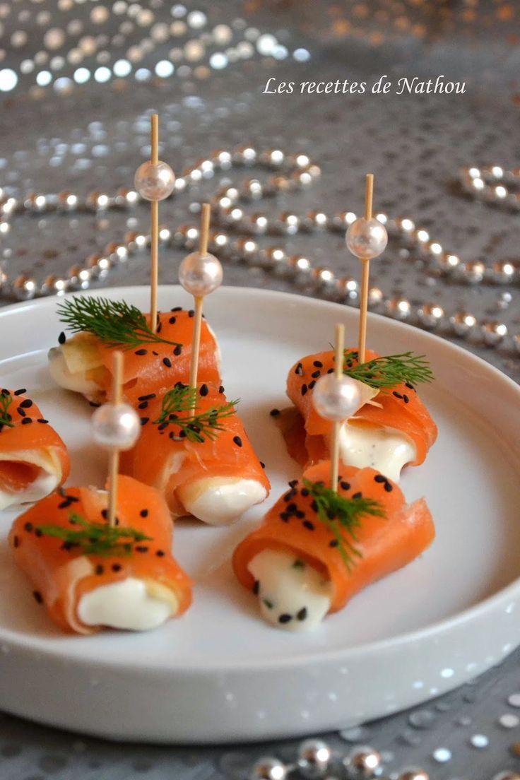 Les recettes de Nathou: Roulades de saumon fumé, pomme et fromage frais