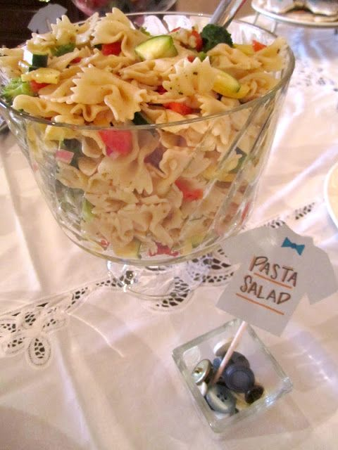 our life eclectic: Little Man baby shower  bow tie pasta--get it?!?