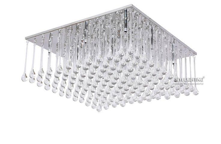 Modern LED Bulbs Crystal Chandelier Pendant Lamp RainDrop Suspension Light Lighting 110V/ 240V #Affiliate