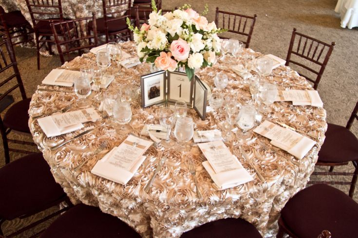 Rosette Table Linens Wedding Floral Decor Pinterest