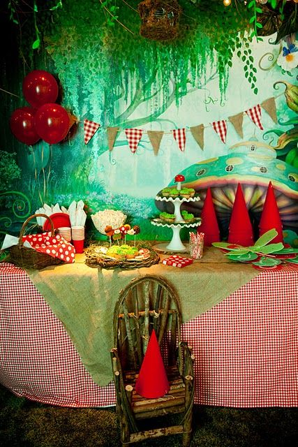 Gnome birthday party - what a cute idea!! Especially since Gabbi and Autumn's birthdays are in the spring!