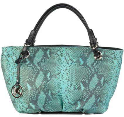 Zielona torebka skórzana Lustrzane odbicie piękna od #Kazar