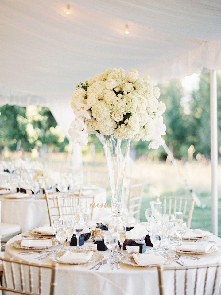 long table setup wedding reception%0A Romantic Champagne Gold reception decor