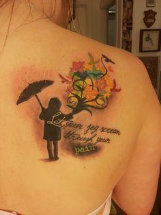 Girl with Umbrella Tattoo by Soederberg on DeviantArt