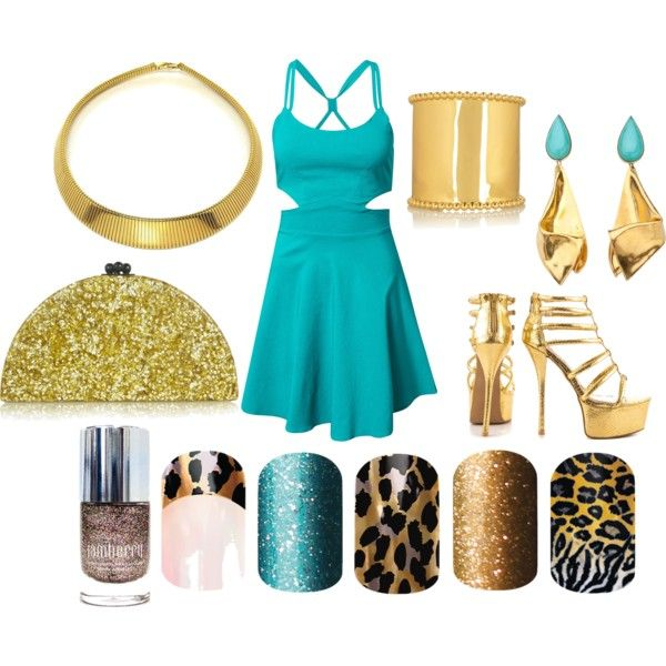 Princess Jasmine Jamberry Style by chameleongirls on Polyvore featuring Elise Ryan, Qupid, Edie Parker and Arme De L'Amour