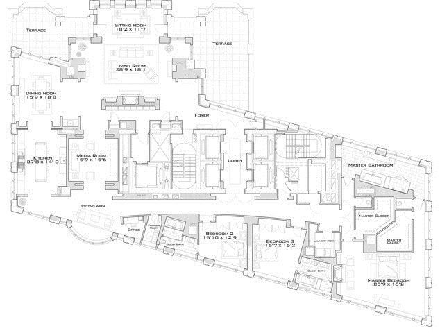 52 Best 220 Central Park South Floor Plans Images On