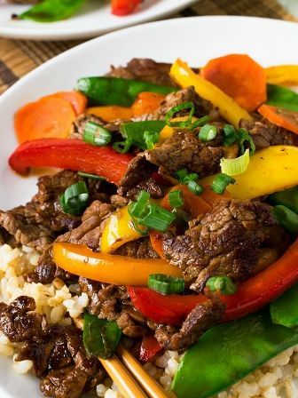 Beef Teriyaki and Vegetables - A delicious and easy meal! And it's so good - you'll never believe that it's a Weight Watchers recipe!