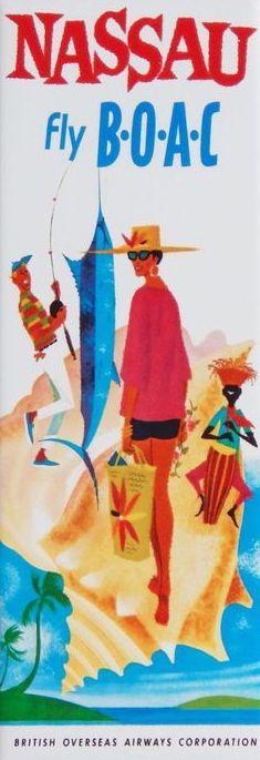 Nassau * BOAC #travel #brochure (1960s)