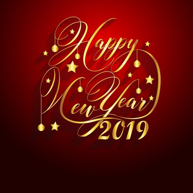 2019 Happy New Year Greeting Card Vector Design Template Png And Vector New Year Wishes Cards New Year Greeting Cards New Year Greetings