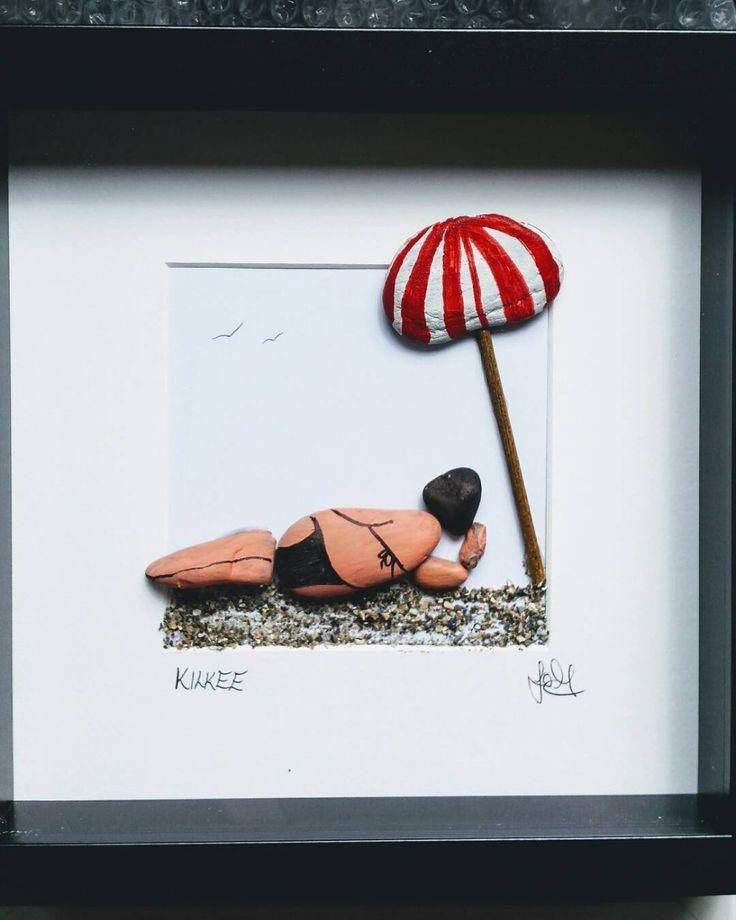 #art #artwork #irishart #pebbleart #gift #shells #ireland #crafts #local #loophead #wildatlanticway #kilkee #ocean #beach #beachcombing #seaside