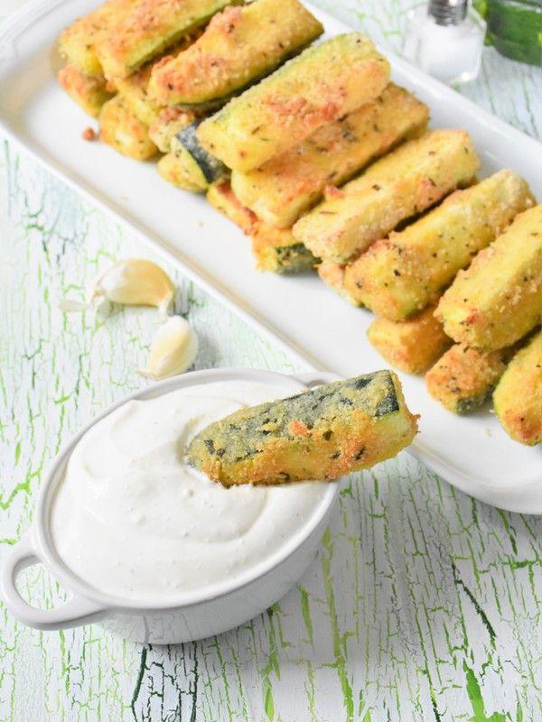 Zucchinisticks aus dem Ofen