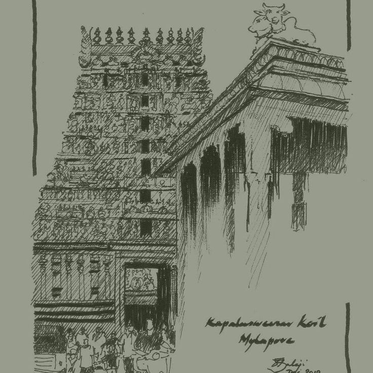 This picture is part of the Big Picture Art Project!  Drawing by Balaji Venugopal  Country: India  Link in profile  The Story behind my drawing: I live in Chennai in Southern India. This is a sketch of the Kapaleeswarar Temple at Mylapore which is said to be a 7th century CE temple although there are references to it even in literature of earlier periods. The structure which is seen in my sketch was probably built in the 15th or 16th century. The temples in various parts of the country have…