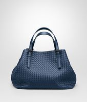 Shop Bottega Veneta® Women's LARGE TOTE BAG IN PACIFIC INTRECCIATO NAPPA. Discover more details about the item.