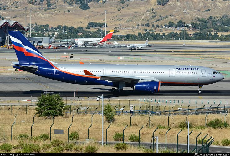 Aeroflot - Russian Airlines Airbus A330-243 VP-BLX aircraft, skating at Spain Madrid Barajas International Airport. 23/08/2016.