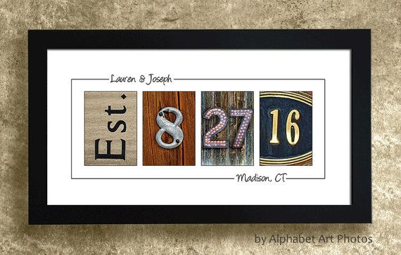 WEDDING DATE GIFT - Wedding Gift Idea, Gift for the Couple, Wedding Gift Sign, Anniversary Gift, Personalized Gift idea, Gift for Wife