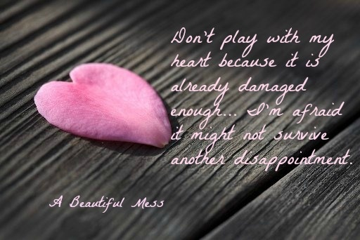 Don't Play With My Heart Because It Is Already Damaged