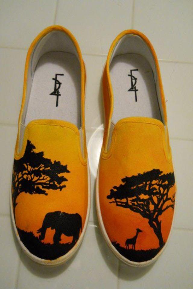 Custom painted shoes Etsy shop skitzocreationsshoes