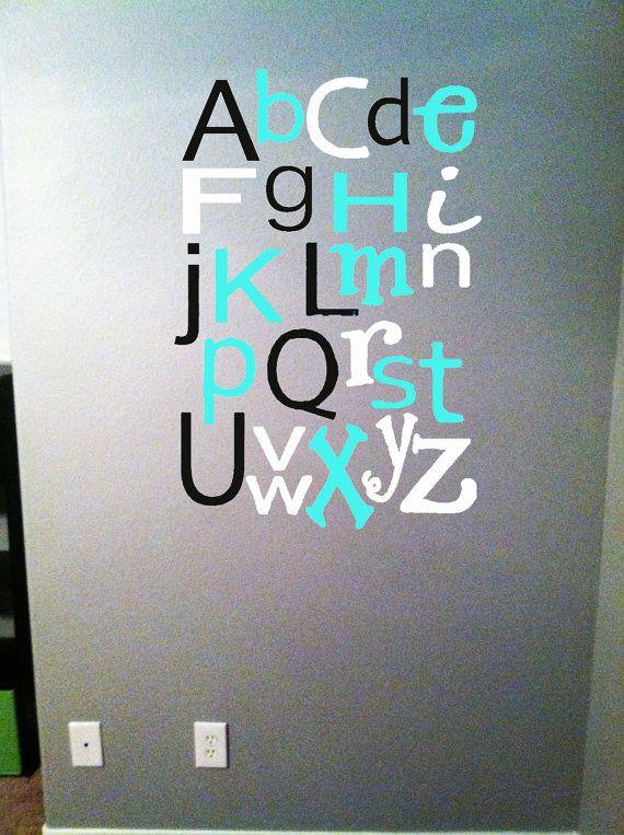 Abc letters Cute for a nursery or classroom!