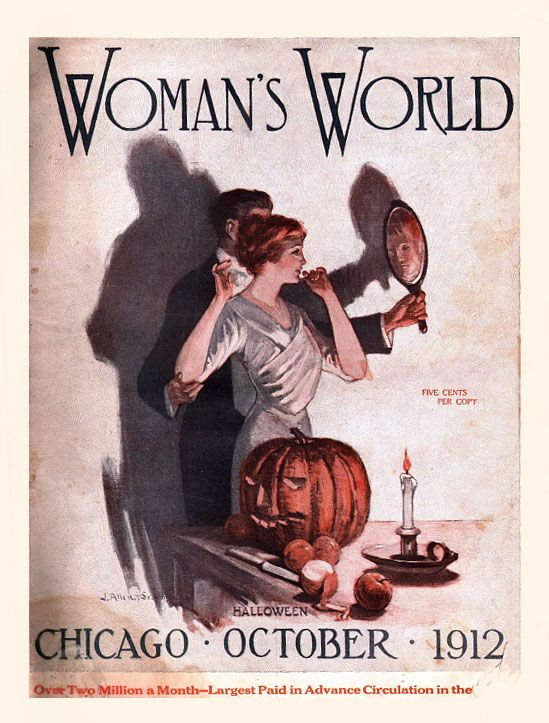 october 1912 halloween cover for womans world - Halloween Magazines