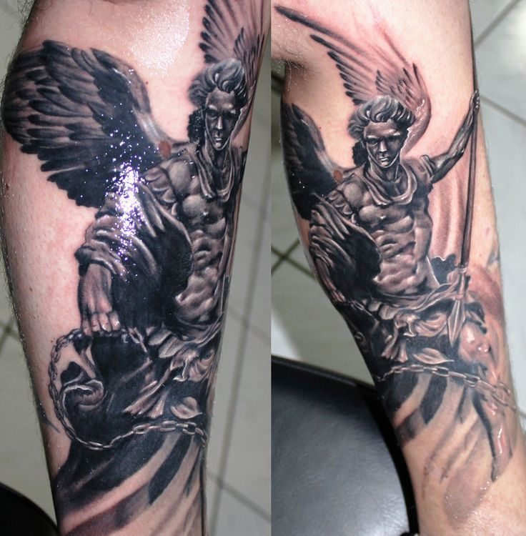 ... Archangel Tattoo op Pinterest - Engel arm tatoeage Duivel tattoo en
