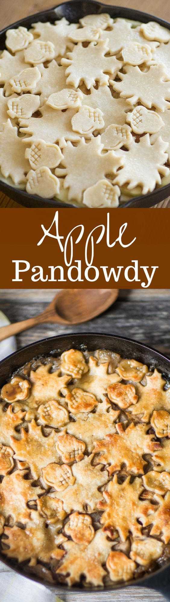 Apple Pandowdy (or Apple Pan Dowdy) - an old-fashioned skillet apple dessert with the crust pressed into the juices part-way through baking. http://www.savingdessert.com