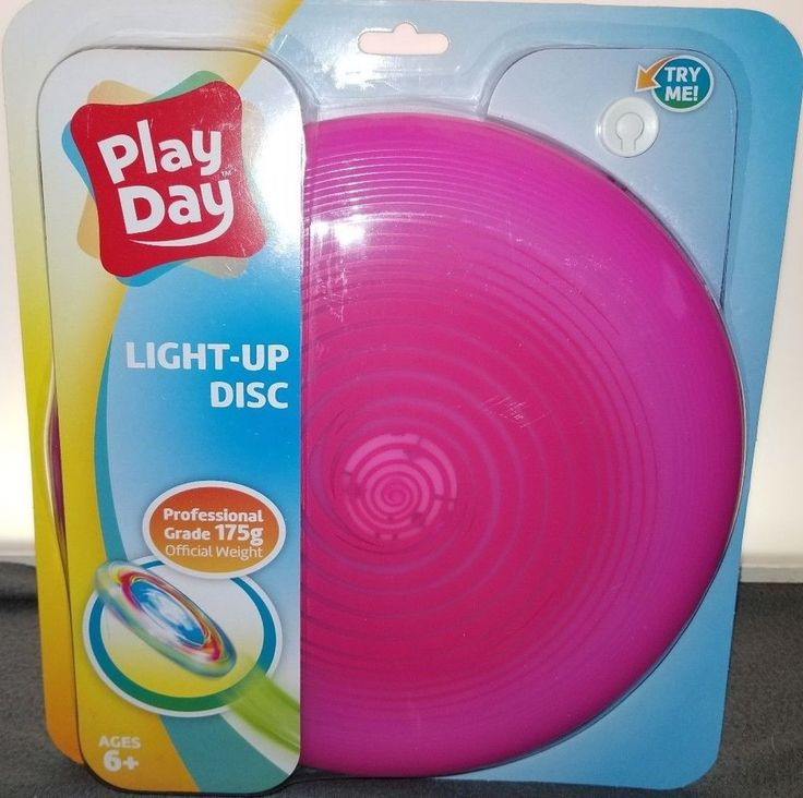 Play Day LIGHT UP FLYING DISC FRISBEE Pink, Proffesional Grade Official Weight  #PlayDay