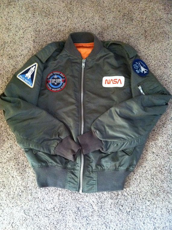Vintage 1970s, 1980s US Military issued flight jacket from former ...