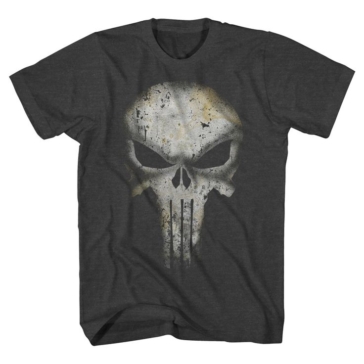 Men's Punisher T-Shirt - Gray Xxl